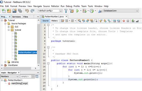 pattern numbers in java number pattern 1 using loop in java