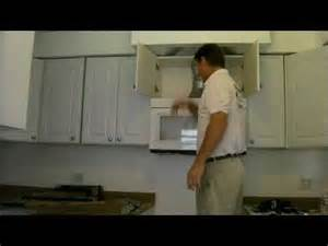 How To Install A Microwave Under A Cabinet Over The Range Microwave Installation Youtube