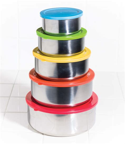 colored stainless steel 10 pc stainless steel mixing bowls food storage