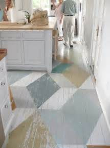 stencils and creative painting ideas for wood floor decoration
