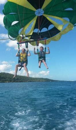 catamaran boat rides in jamaica kids parasailing picture of sun star watersports jamaica