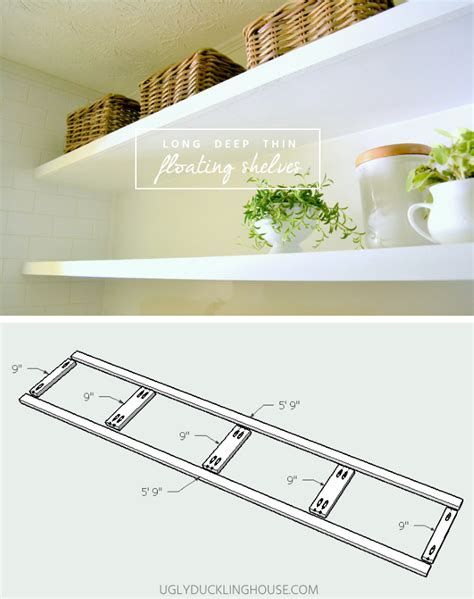 how to create long deep thin floating shelves