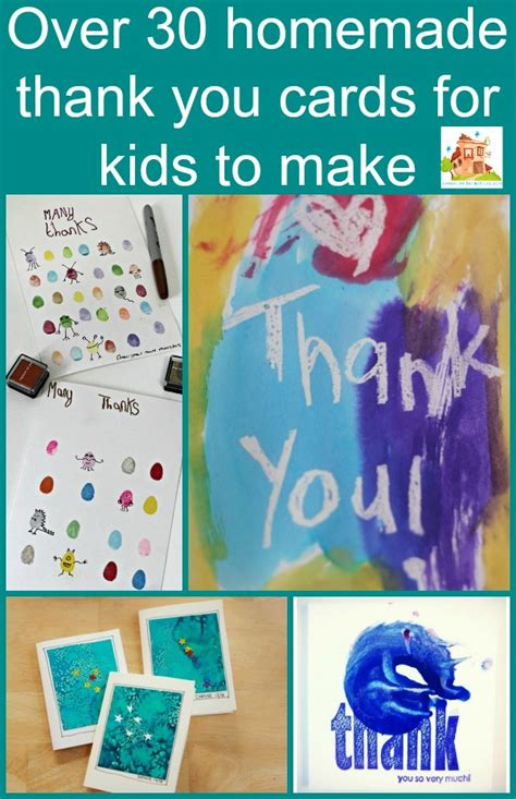 easy kid cards thank you cards for to make in the