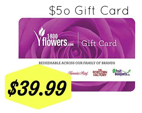 Staples Gift Card Sale - staples 39 99 1800 flowers gift card 50 value