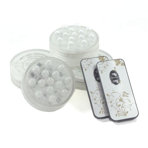 4 pack small led puck light battery operated w remote