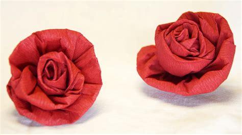 blumen basteln rose aus krepppapier feinkrepp basteln