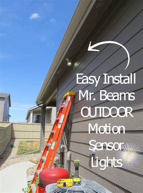 outdoor motion sensor light reviews review outdoor motion sensor lights led mr beams with