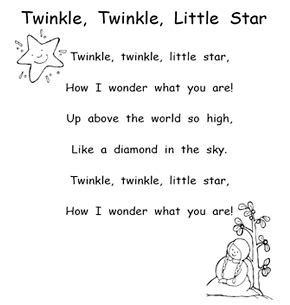 twinkle twinkle little star coloring page mother goose illustrated mother goose rhymes free poetry nellie edge