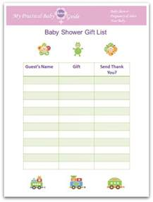 baby shower gift list template free how to plan a baby shower my practical baby shower guide baby shower gift list template baby shower gift list