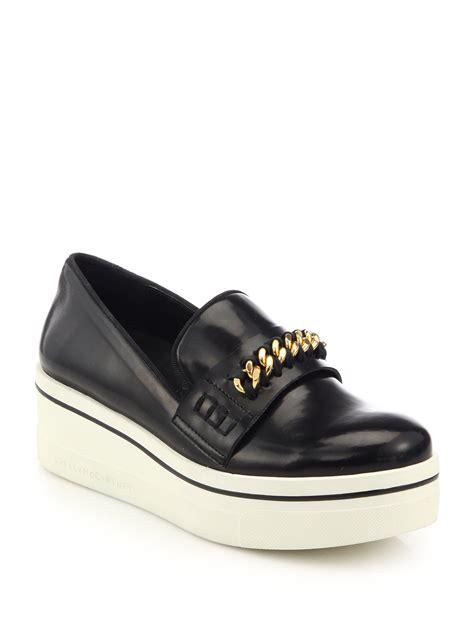 stella mccartney platform loafers stella mccartney chain trimmed rubber platform loafers in