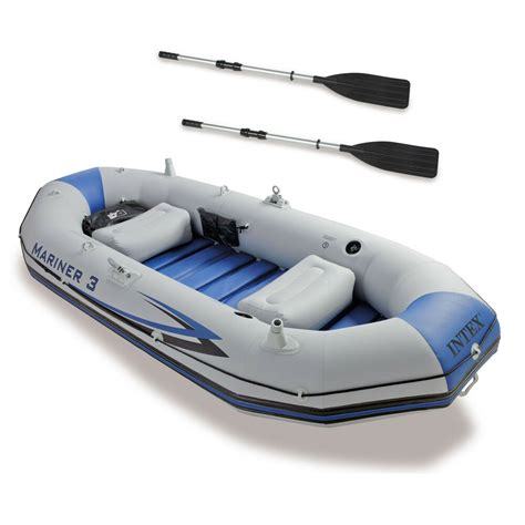 inflatable boat bunnings intex mariner 3 person inflatable river lake dinghy boat