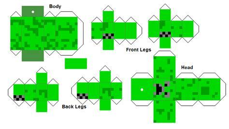 Minecraft Papercraft Figures - papercraft creeper minecraft figure correct texture