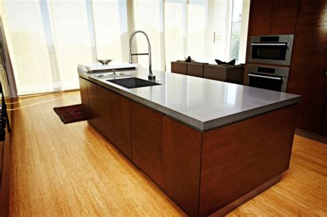 Countertops For Kitchen Islands Caesarstone Quartz Concrete Kitchen Island Countertop