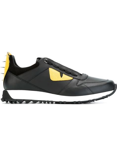 fendi sneakers fendi bag bugs sneakers in yellow for black lyst