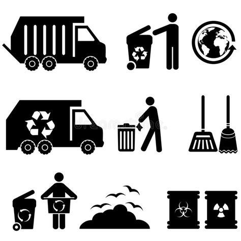 clipart rifiuti icone dell immondizia e dei rifiuti illustrazione