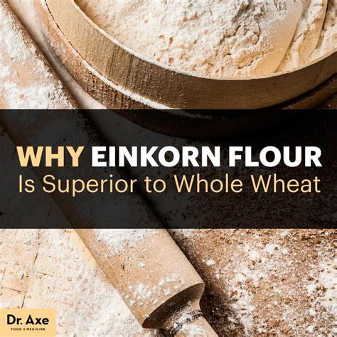 whole grains dr axe einkorn flour the superior ancient grain compared to