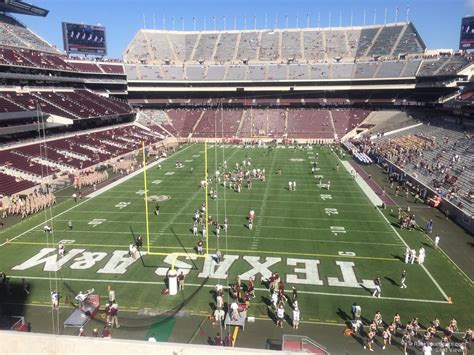 kyle field visitor section kyle field section 243 rateyourseats com