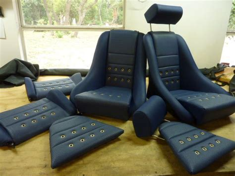 Auto Weave Upholstery by Our R Seats In Blue Leatherette W Blue Basket Weave