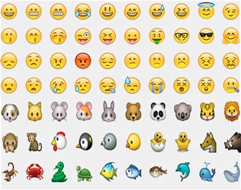 list of android emojis go keyboard emoji free