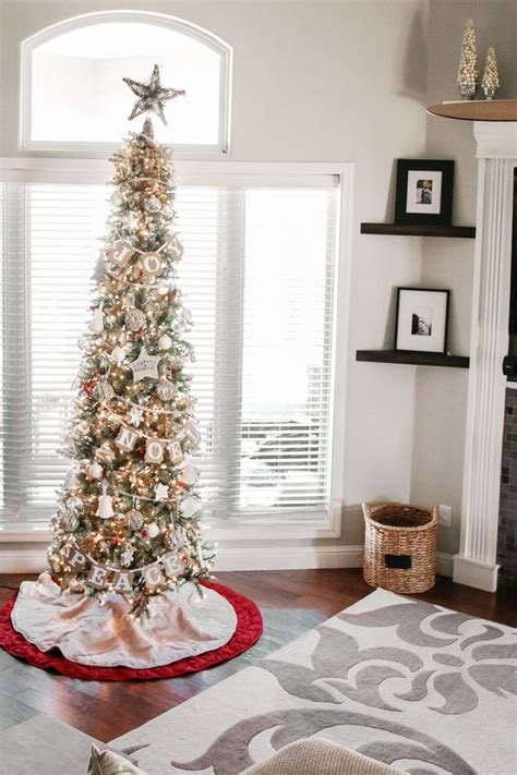 stunning slim tree decorations celebration all about