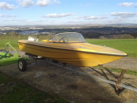 13 ft fishing boat for sale uk fletcher 13ft speedboat inc rusty trailer boats for