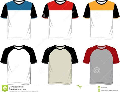 shirt template raglan stock vector illustration