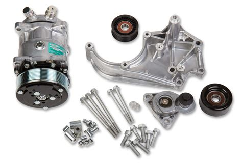 holley   ls ac accessory drive kit includes sd ac compressor tensioner pulleys