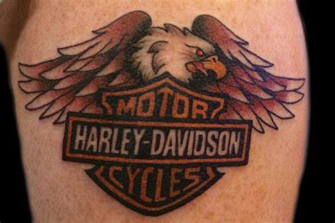 harley davidson tattoo design gallery harley davidson eagle tattoos best image konpax 2017