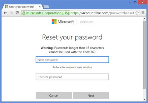 Reset Microsoft Online Services Password | live account password reset gci phone service