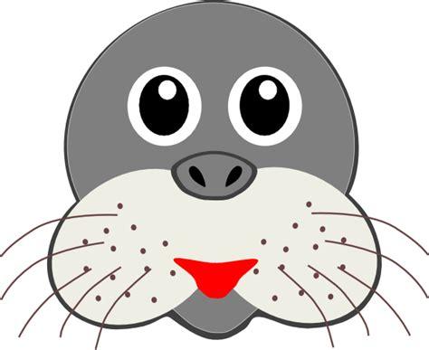 printable seal mask template seal clip art at clker com vector clip art online