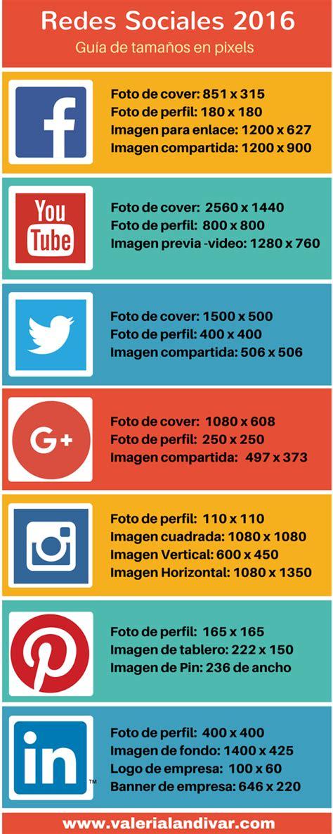infografia tamaño imagenes redes sociales tama 241 os de im 225 genes para las redes sociales infograf 237 a