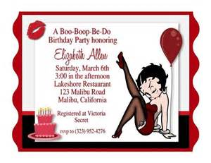 betty boop birthday invitation invitations