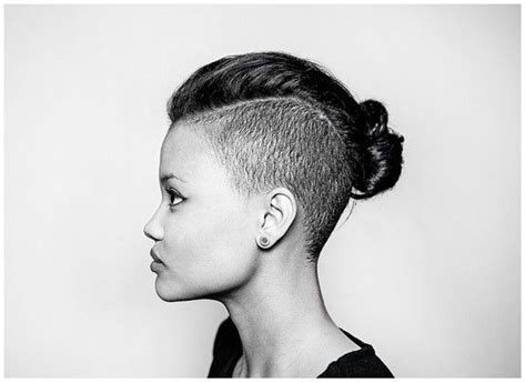 my hair is only short on the sides how can i do a sewin undercut top knot and knots on pinterest