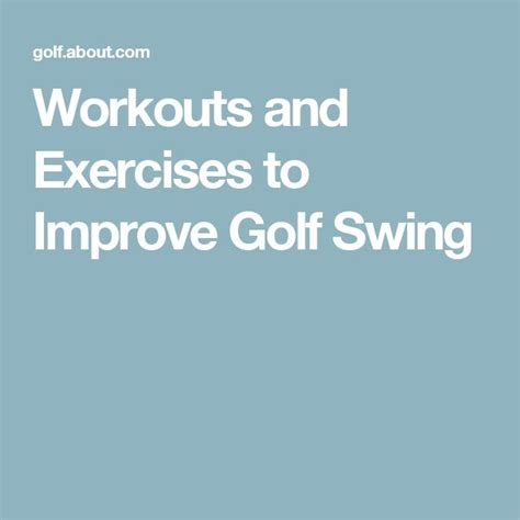 1000 Ideas About Golf Exercises On Pinterest Golf Tips