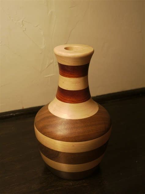 Turning A Vase On A Lathe turning a laminated wooden vase on the lathe