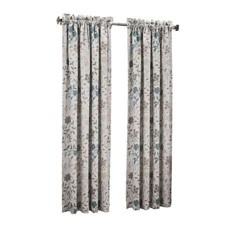 printed drapes curtains sun zero stone grey abington floral printed room