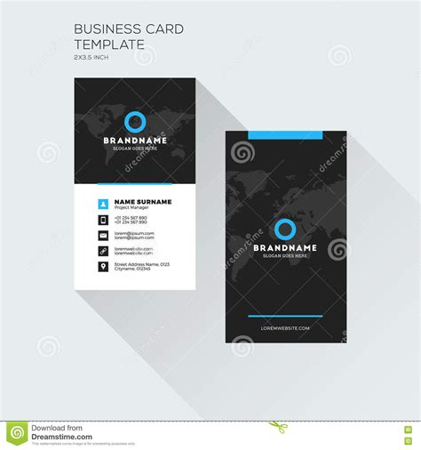 business card template with watermark vertical business card print template personal visiting