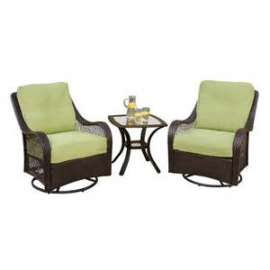 3 Piece Patio Sets by Shop Hanover Outdoor Furniture Orleans 3 Piece Wicker