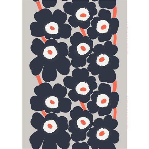 marimekko upholstery fabric sale marimekko unikko dark grey coral cotton linen fabric