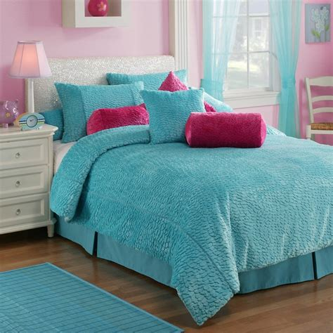 blue teen bedding melrose aqua comforter set at hayneedle