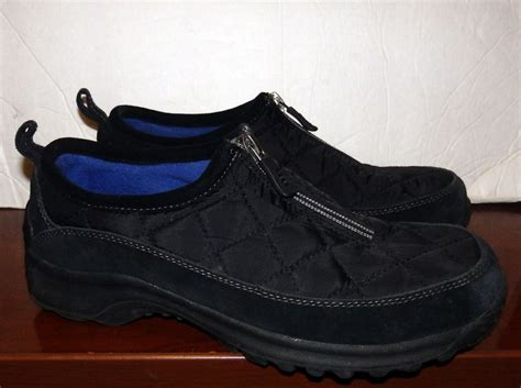 lands end shoes lands end s quilted all weather shoes black moc size