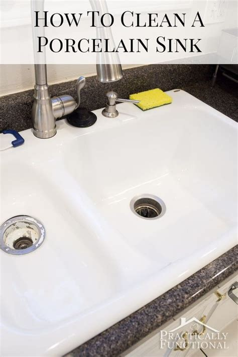 how to clean stained porcelain sink how to clean a porcelain sink including the stains and