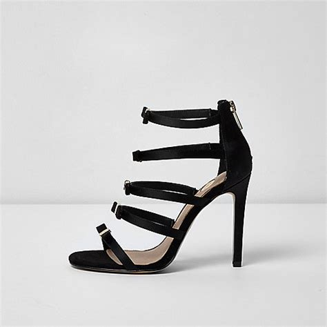 River Islands Bow Trim Sandal by Black Multi Bow Barely There Sandals Sandals