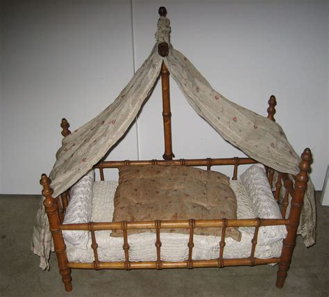bamboo canopy bed antique french doll faux bamboo maplewood canopy bed from