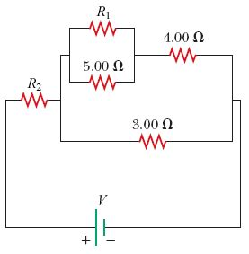 resistors r1 and r2 an equivalent resistance of 6 ohms consider the circuit shown in the figure below chegg
