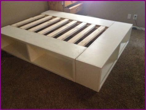 ikea hacks bed frame πώς να φτιάξετε κρεβάτι απο ραφιέρες ικεα kallax