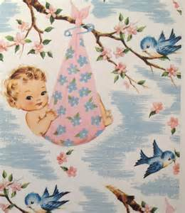 vintage baby shower wrapping paper baby shower ideas
