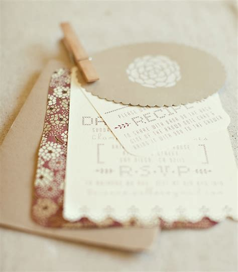 Handmade Invitations - handmade wedding shower invites