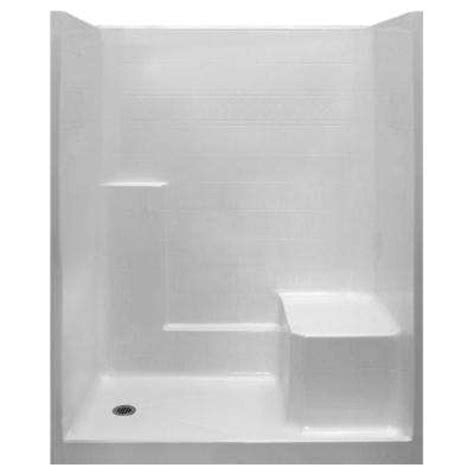 One Fiberglass Shower Stall With Seat by Shower Stalls Kits Showers The Home Depot