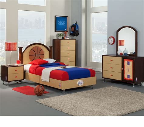 basketball bedroom sets dreamfurniture com nba basketball los angeles clippers